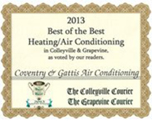 2013 Best of the Best Heating & Air Conditioning Company