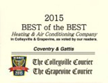 2015 Best of the Best Heating & Air Conditioning Company