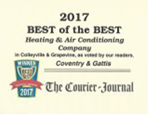 2017 Best of the Best Heating & Air Conditioning Company